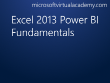 Excel 2013 Power BI Fundamentals