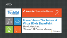 Power View - The Future of Visual Business Intelligence via SharePoint