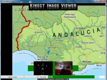 Learning Geography with the Kinect Image Viewer