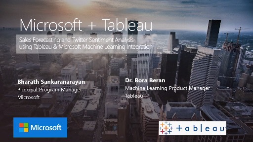 How to use Tableau with SQL Server, R and Python