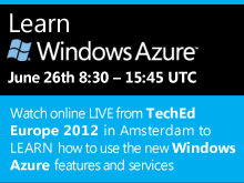 Learn Windows Azure at TechEd Europe