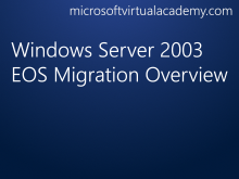 Windows Server 2003 EOS Migration Overview