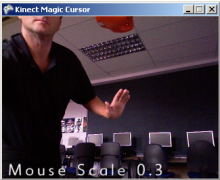 Making mouse magic with the Kinect Magic Cursor