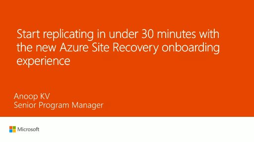 Azure Site Recovery's new onboarding experience