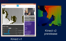 Kinect v1 vs Kinect v2 (RGB and Depth)