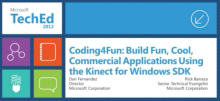 """Build Fun, Cool, Commercial Applications Using the Kinect for Windows SDK"""
