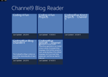 Example Channel9 Blog Reader App