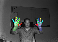 Finger Tracking with Metrilus Aiolos Finger Tracking Library