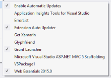 Lots of VS Extensions installed? Visual Studio [2013] Auto Updater...