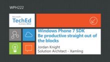 Windows Phone SDK - Be Productive Straight out of the Blocks