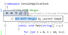 Get live diff's with Git Diff Margin Visual Studio Extension