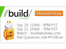 Channel 9 Live at BUILD Day 2 Schedule