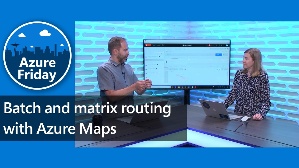 Batch and matrix routing with Azure Maps