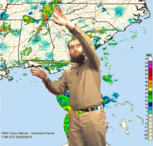 So you want to be a Weather person? Here's your chance, Kinect Weather Map