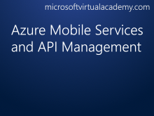 Azure Mobile Services and API Management