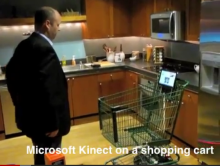 Kinect-cart... A prototype Kinect-enabled Shopping cart