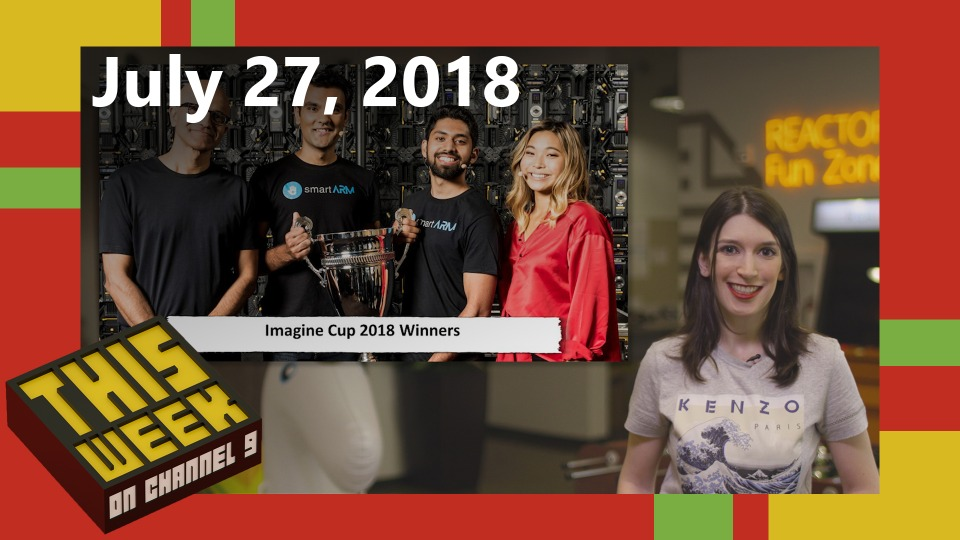 TWC9: Imagine Cup Winners, Visual Studio IntelliCode for Python, Knative in Azure, and more