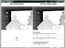 Say No to the noise... Real-Time Kinect depth frame smoothing