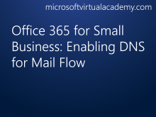 Office 365 for Small Business: Enabling DNS for Mail Flow