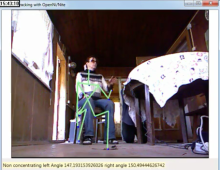 Seated posture and gesture recognition with Kinect