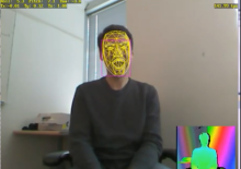 C++ example of the Face Tracking SDK for the Kinect for Windows SDK v1.5