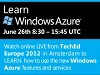 Learn Windows Azure at TechEd Europe 2012 - Watch On-Demand