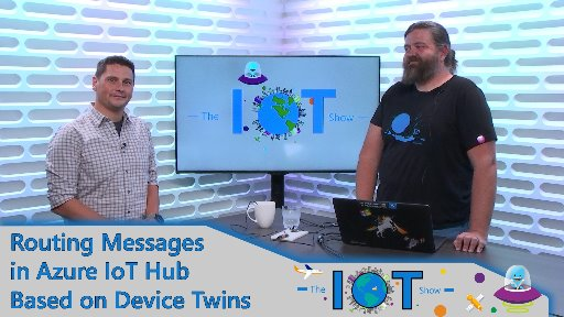Routing Messages in Azure IoT Hub based on Device Twin