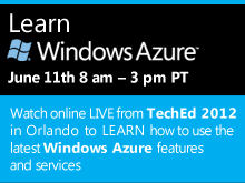 Learn Windows Azure at TechEd North America 2012