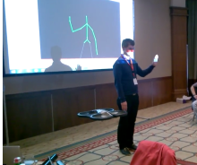 Kinect Parrot AR.Drone 2.0 Demo