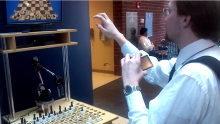 Kinect-Controlled Chess Playing Robot