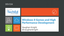 Windows 8 Games and High Performance Development
