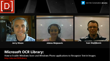 Microsoft DevRadio: Microsoft OCR Library - Enabling Windows apps to Recognize Text in Images