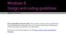 New Windows Developer Portal and UX Guidelines too