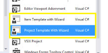 Adding Magic to New Projects with the VSX Template Wizard