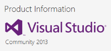 "Visual Studio 2013 Community - ""Professional"" development for free*"