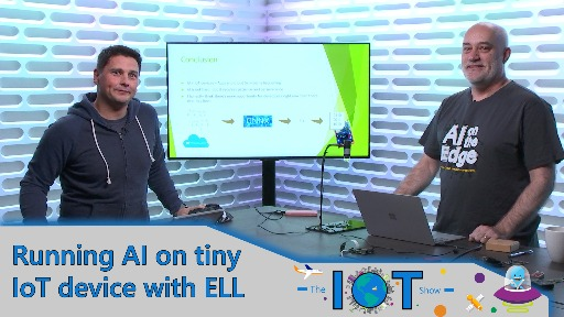 Running AI on IoT microcontroller devices with ELL