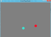A Kinect Player Radar, a top down view of Player locations relative to the Kinect Device.