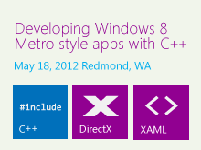 Developing Windows 8 Metro style apps with C++