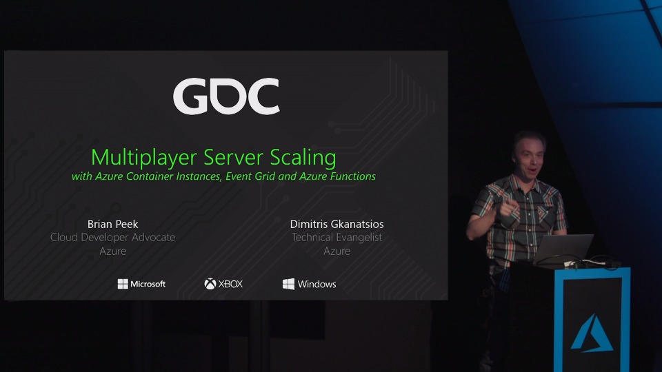 Azure Container Instances for Multiplayer Gaming - Theater Presentation