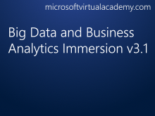 Big Data and Business Analytics Immersion v3.1