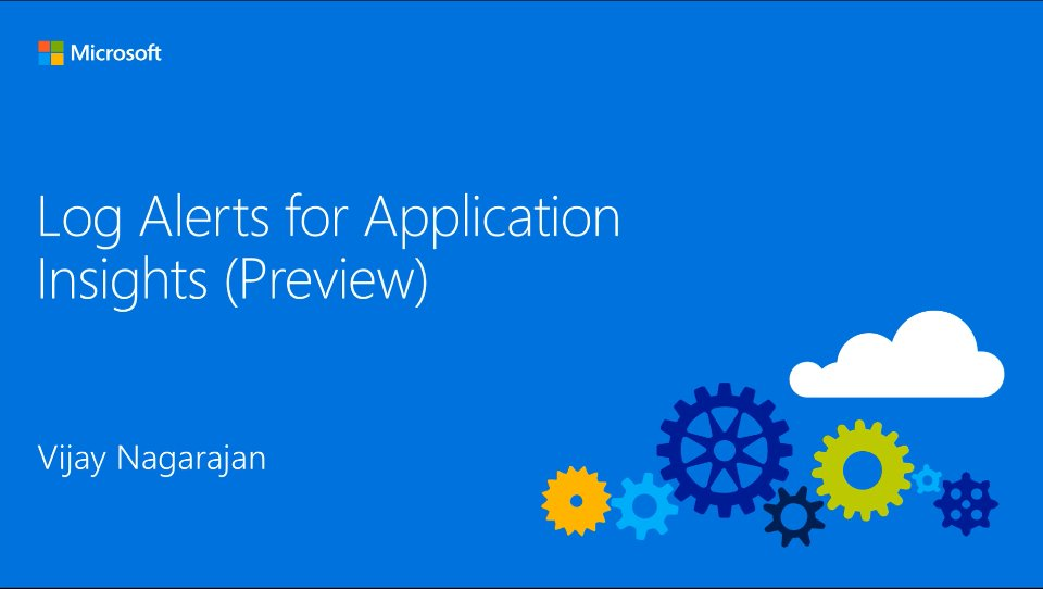 Log Alerts for Application Insights (Preview)