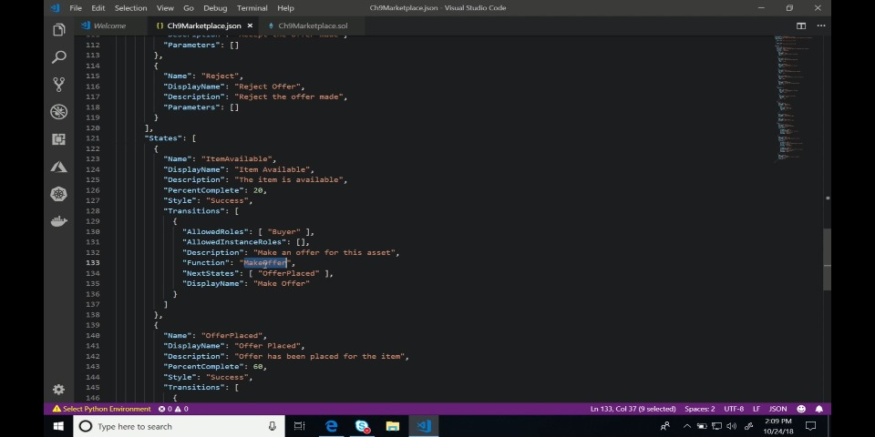 Building your first Azure Blockchain Workbench application