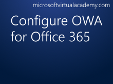Configure OWA for Office 365