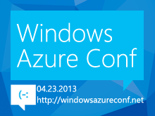 Windows AzureConf 2013